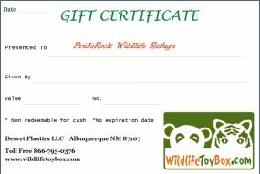 , Wildlife Toy Box